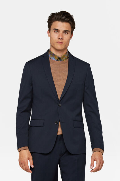 Heren regular fit blazer, Dali Marineblauw