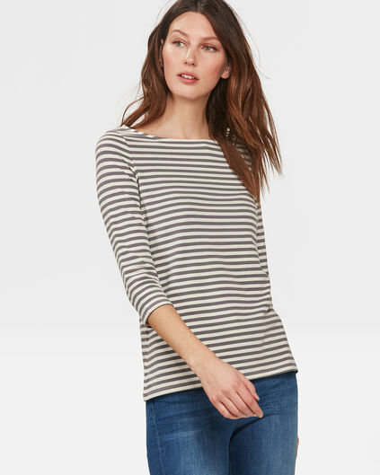 DAMES STRIPED SHIRT Grijs
