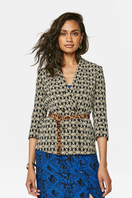 Dames double breasted blazer Wit