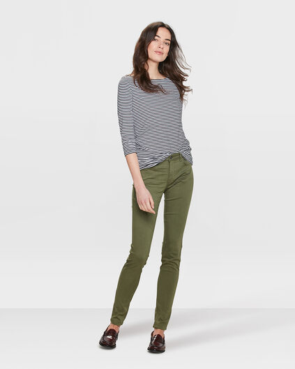 DAMES MID RISE SKINNY HIGH STRETCH BROEK Legergroen
