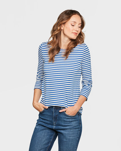 DAMES STRIPED SHIRT Kobaltblauw