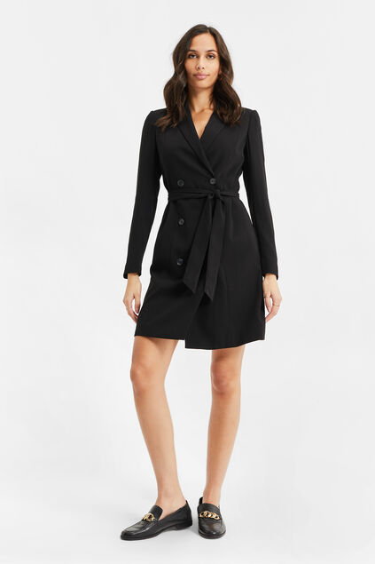 Dames double-breasted blazer jurk Zwart