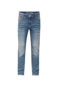 Meisjes girlfriend fit jeans_Meisjes girlfriend fit jeans, Donkerblauw