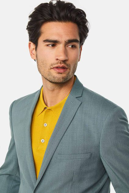 Heren slim fit blazer met stretch, Dali Grijsgroen