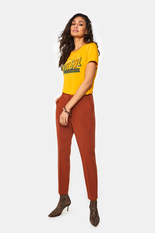 Dames slim fit pantalon Oranje