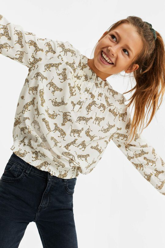 Meisjes top met luipaarddessin All-over print