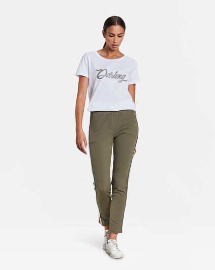 DAMES SPORTY STRIPE JOGGER Legergroen