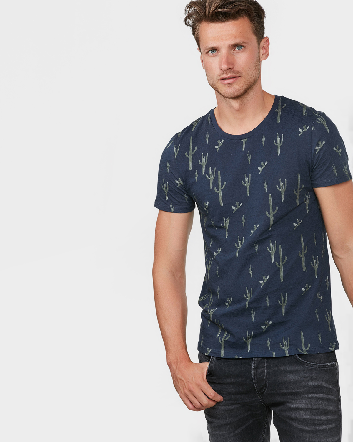 Heren all over cactus print t shirt 79500487 we fashion for T shirt printing sites
